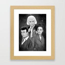 Classic Who Framed Art Print