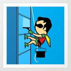 Part Time Job - Window Cleaning Art Print