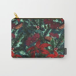 Poinsettia and Pine Carry-All Pouch