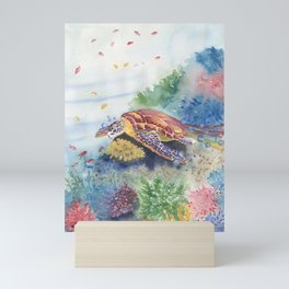 Sea Turtle and Friends Mini Art Print