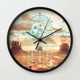 Mandala Desert Dawn Wall Clock