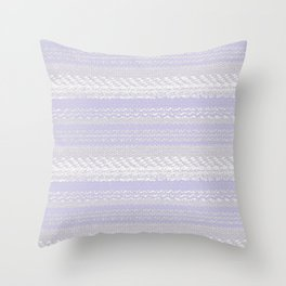 Big Stich Lavender - Knitting Fabric Art Throw Pillow