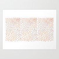grid Art Prints featuring Grid by Tessa de Guytenaer