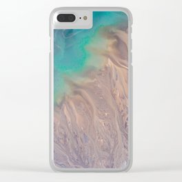 The abstract swirl of beach life Clear iPhone Case