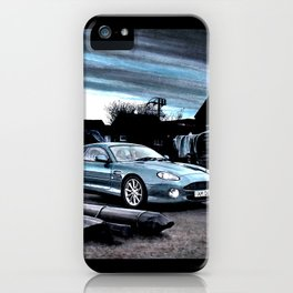 ASTON MARTIN AUTOMOBILE AT ENGLISH HARBOUR iPhone Case