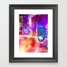 Standing in fire Framed Art Print