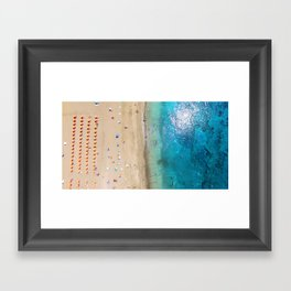 AERIAL. Summer beach Framed Art Print