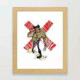 Wolvie Framed Art Print