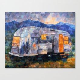 Road Trippin Airstream Canvas Print