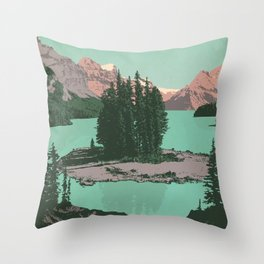 Jasper National Park Poster Throw Pillow