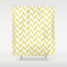 HERRINGBONE (KHAKI & WHITE) Shower Curtain