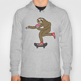 Skater Sloth loves donut Hoody