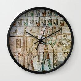 ANCIENT EGYPT TEXTURE (Temple of Deir el Medina) Wall Clock