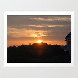 Sunset in North Carolina  Art Print