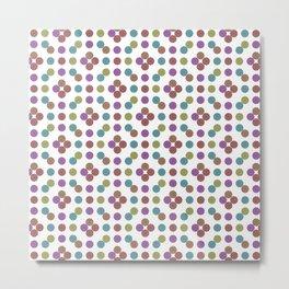 Multicoloed Circles Pattern Metal Print