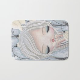 Silence of the Snowdrops Bath Mat
