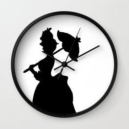 Victorian Woman - black & white - Woman in a Dressing Gown Wall Clock