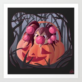 Halloween Candy Art Print