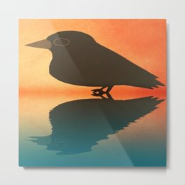 crow-72 Metal Print