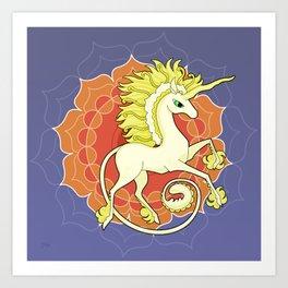Vendel Unicorn - the sun Art Print