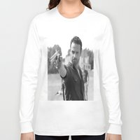 rick grimes Long Sleeve T-shirts featuring Rick Grimes by OliGilbert