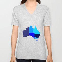 Australia State Silhouette Unisex V-Neck