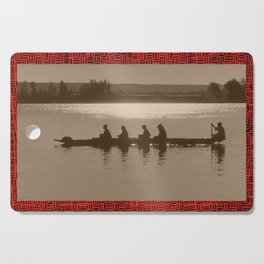 African River at Sunset - Vintage Photography Cutting Board