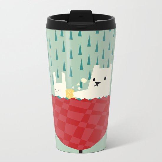 umbrella bath time! Metal Travel Mug