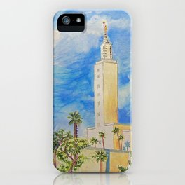 Los Angeles California LDS Temple iPhone Case