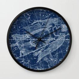Virgo sky star map Wall Clock
