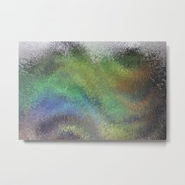 Wavy Abstract Colorful Frosted Glass Metal Print