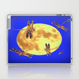 Golden Dragonflies Love Moon Light Laptop & iPad Skin