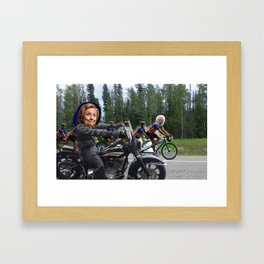 Tandem Bike Framed Art Print