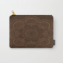 Brown Mandala Carry-All Pouch