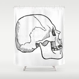 Skull 11 Shower Curtain