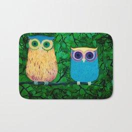 Two Owls Bath Mat