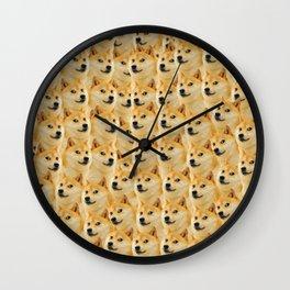 shibe doge fun and funny meme adorable Wall Clock