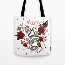 J'Adore With Love Tote Bag