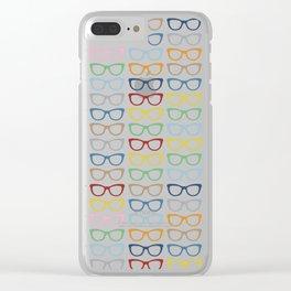 Rainbow Specs Clear iPhone Case