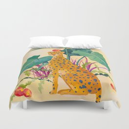 Cheetah and Apples Duvet Cover