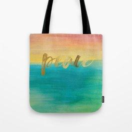 Peace, Ocean Sunset 3 Tote Bag
