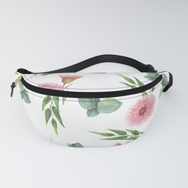 EUCALYPTUS LEAVES WATERCOLOR Fanny Pack