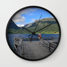 Lake Jotunheimen Norway Wall Clock