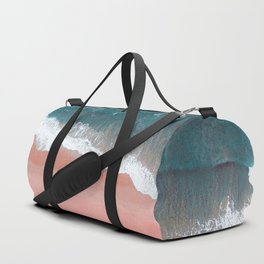 Turquoise Sea Pastel Beach III Duffle Bag