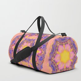 Delicate kaleidoscope in the colors of summer Duffle Bag