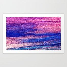 Glitter Everywhere Art Print