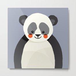 Giant Panda, Animal Portrait Metal Print
