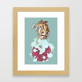 Space Stegosaurus  Framed Art Print