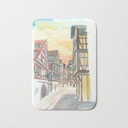 Strasbourg Alsace France Petite France Street Scene Bath Mat
