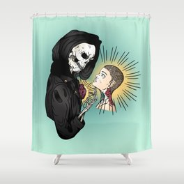 Even In Death Shower Curtain